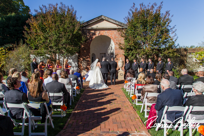 Dumbarton House fall wedding ceremony_Rodney Bailey