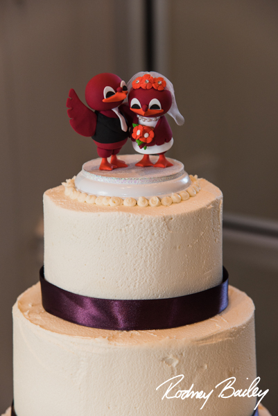 Hokie bird wedding cake topper Carnegie Library_Rodney Bailey
