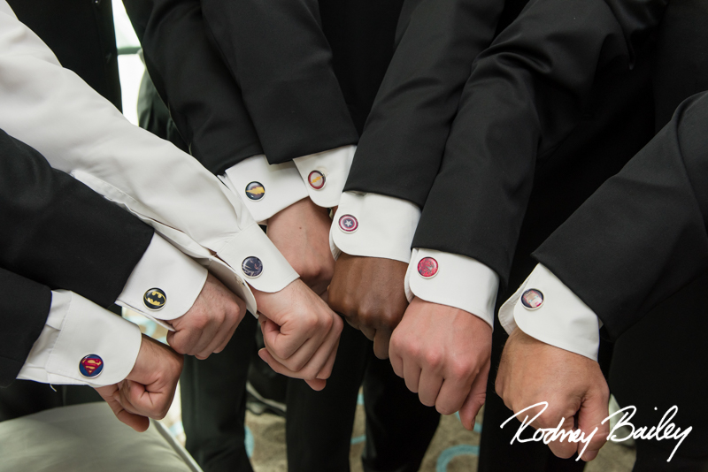 custom cufflinks superheros Wedding_Carnegie Library_Rodney Bailey