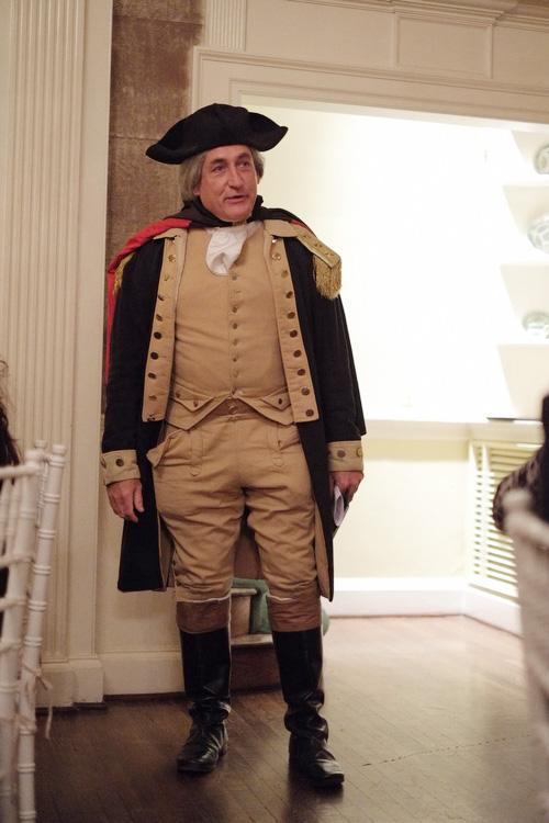 George Washington impersonator Washington DC wedding reception