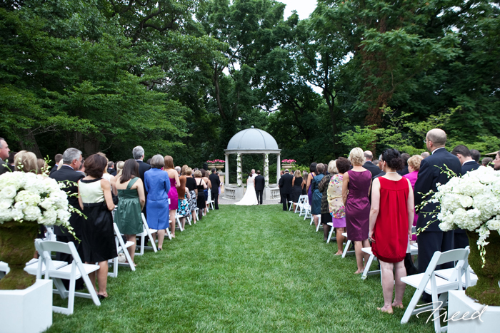 Omni Shoreham Hotel DC wedding ceremony gazebo