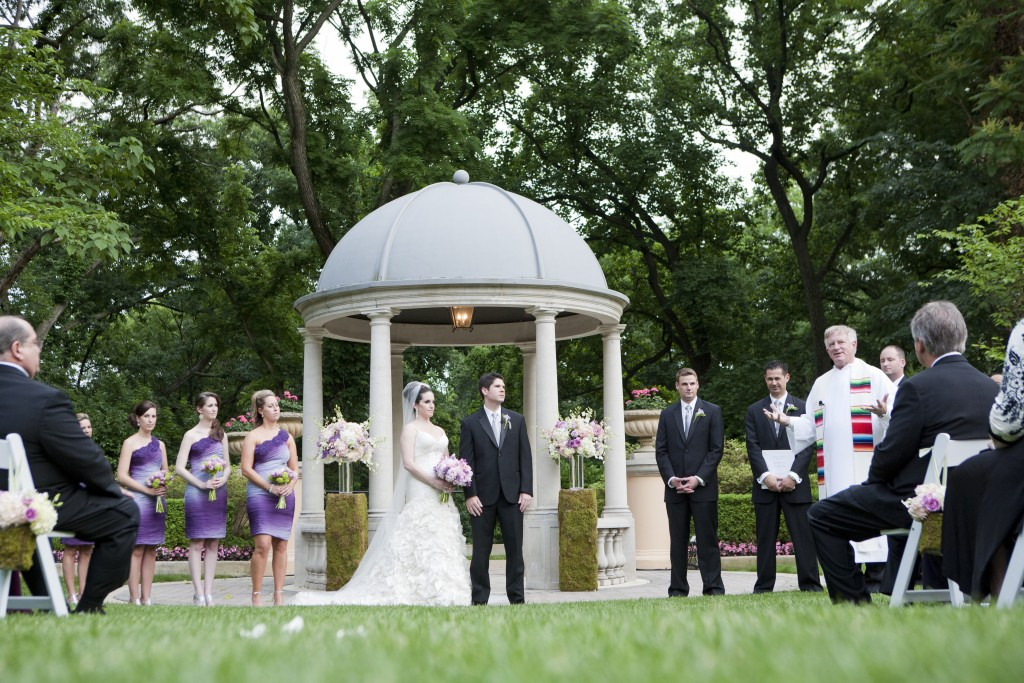 outdoor garden wedding ceremony omni shoreham hotel