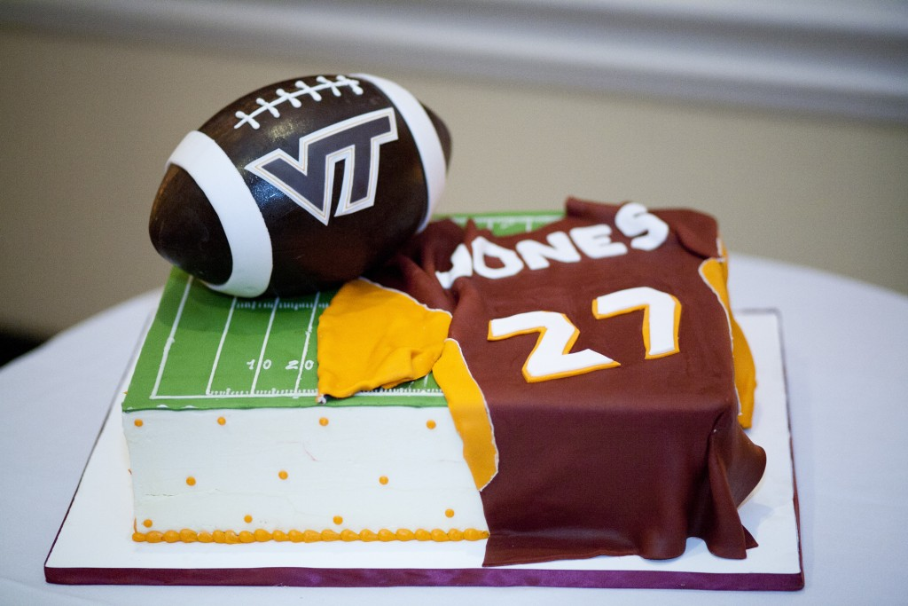 Virginia tech grooms cake by Fluffy Thoughts photo Love Life Images