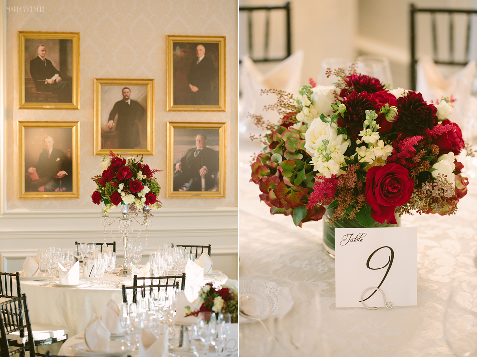 Washington Golf & Country Club Arlington VA wedding fall burgundy