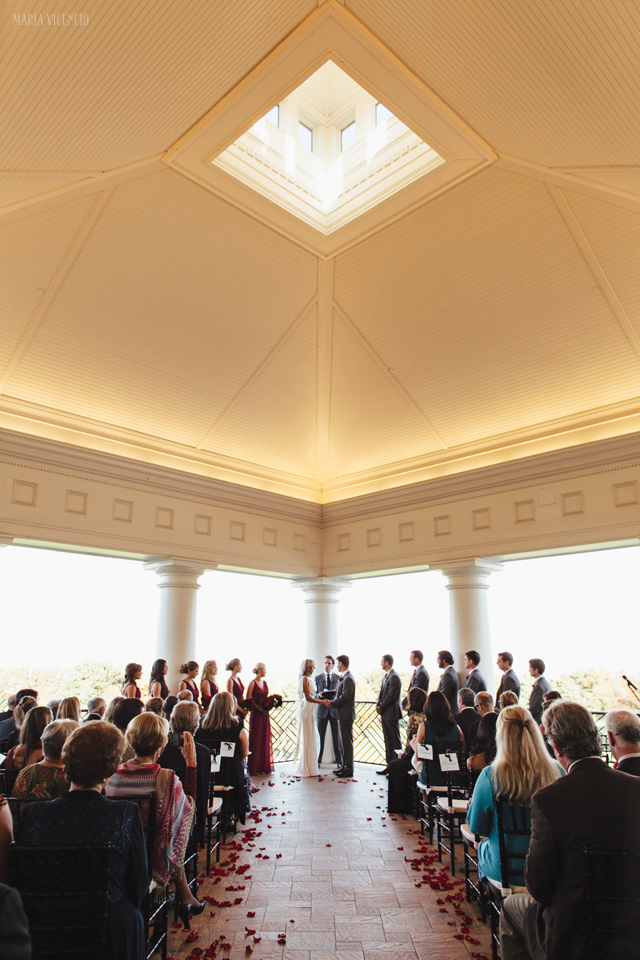 Washington Golf & Country Club wedding ceremony fall terrace