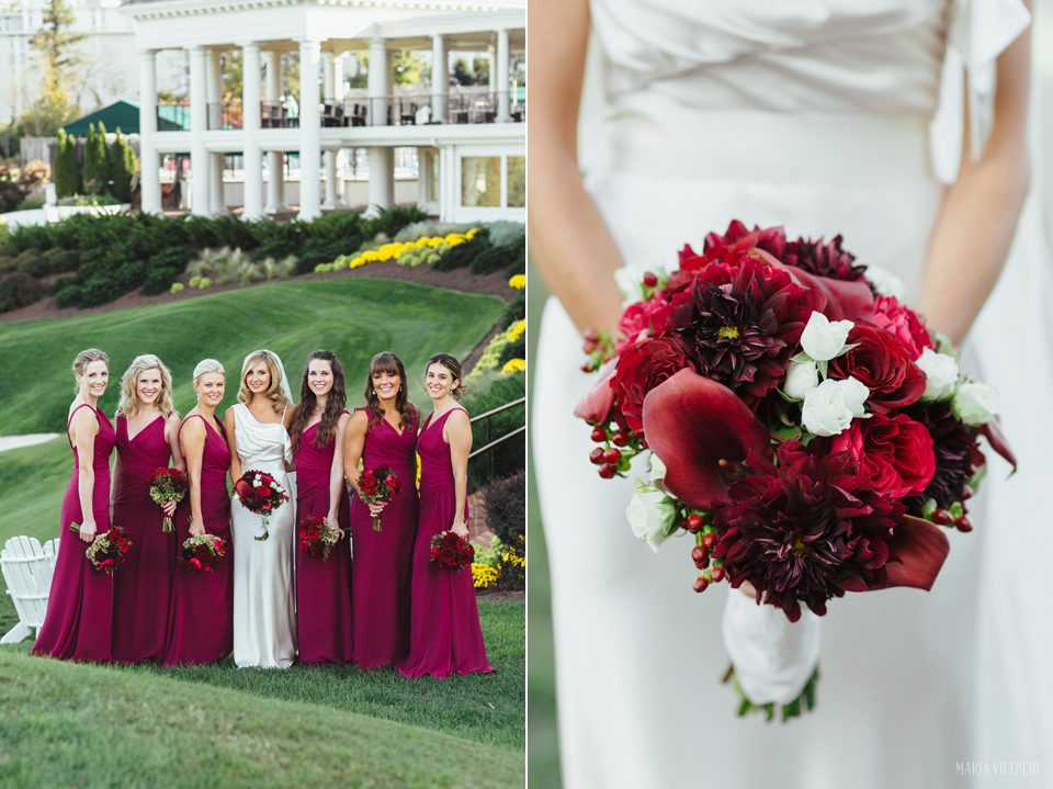 Washington Golf & Country Club wedding fall burgundy
