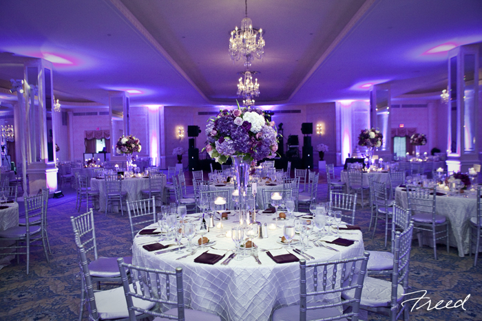 omni shoreham dc wedding purple silver