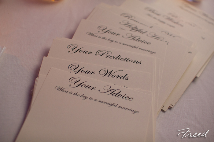 wedding advice cards guestbook
