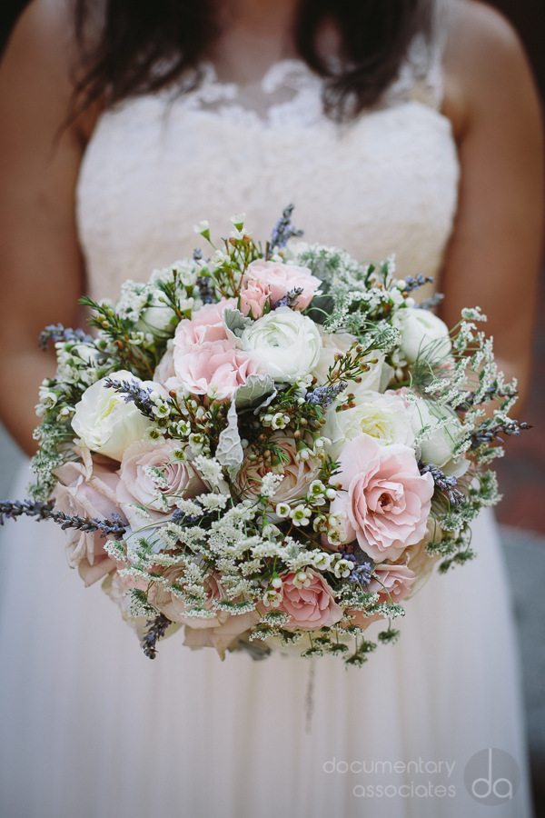 blush pink white soft romantic bridal bouquet Davincis florist
