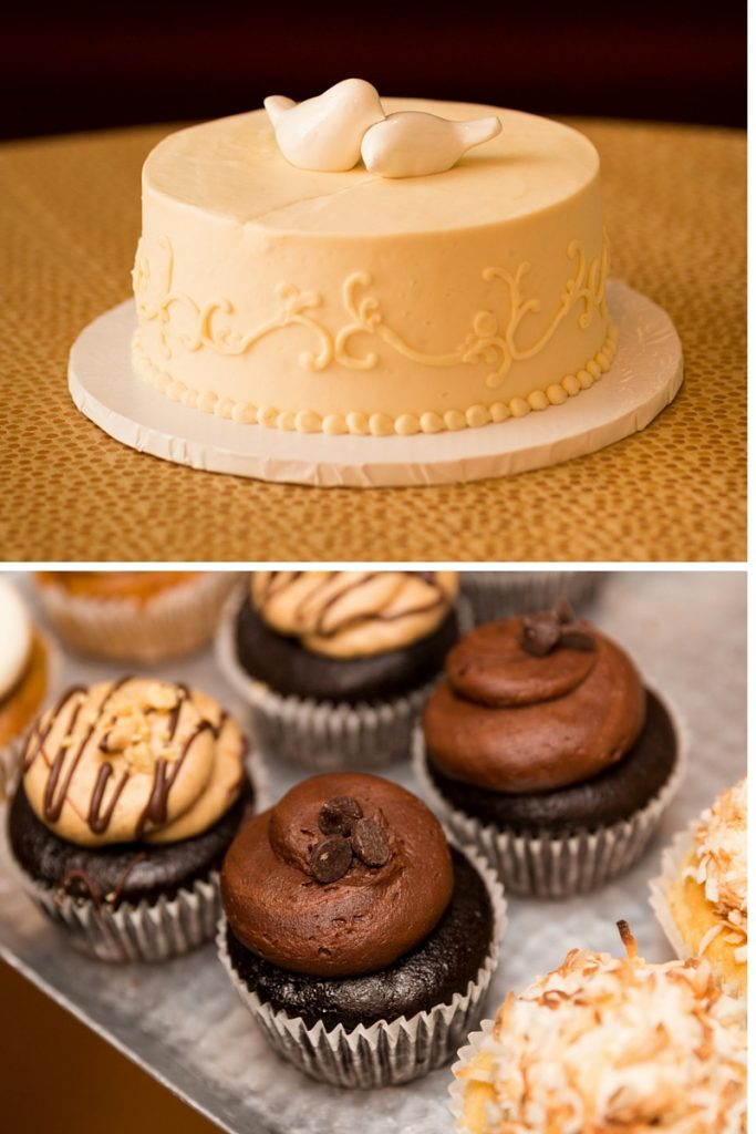 Sticky Fingers vegan wedding cake cupcakes