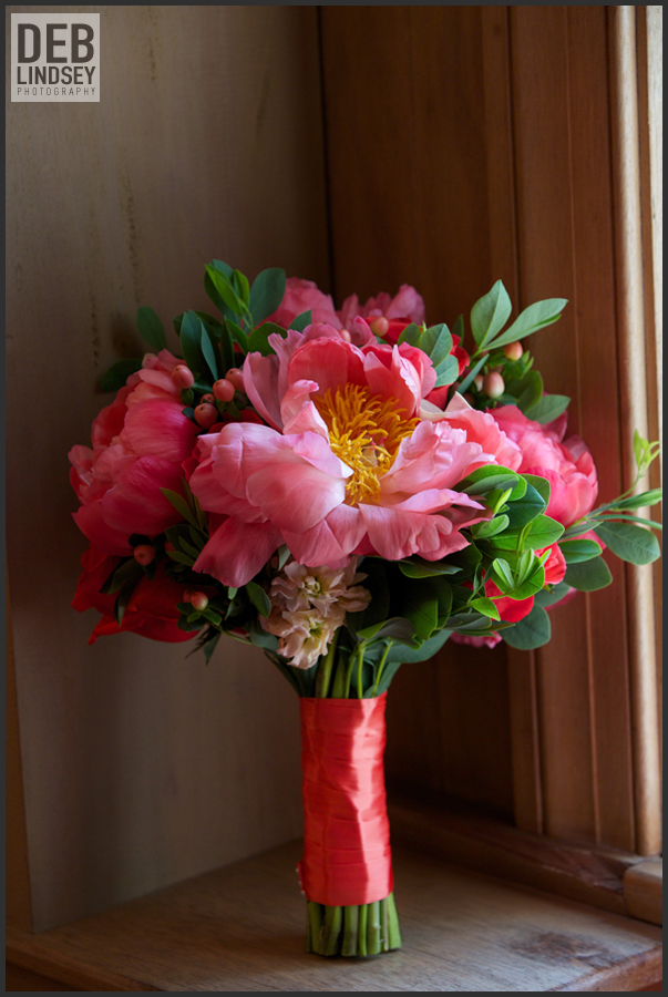 yellow door floral design bouquet coral peonies