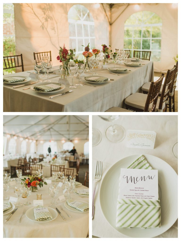River Farm fall wedding jewel tones tent
