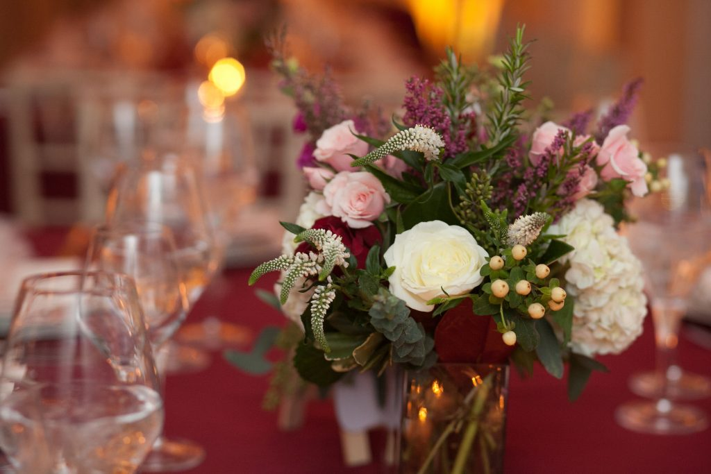 Galleria-Florist-falls-church-va-wedding-centerpiece-winter-burgundy blush