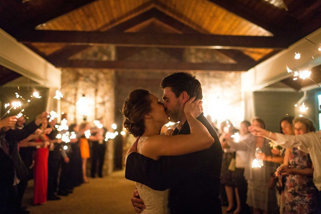 bull-run-golf-club-spring-wedding-sparkler-exit