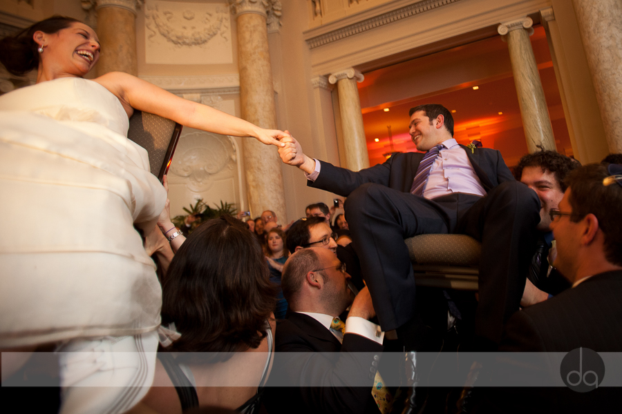 carnegie-institute-of-science-jewish-wedding-Washington-DC-hora