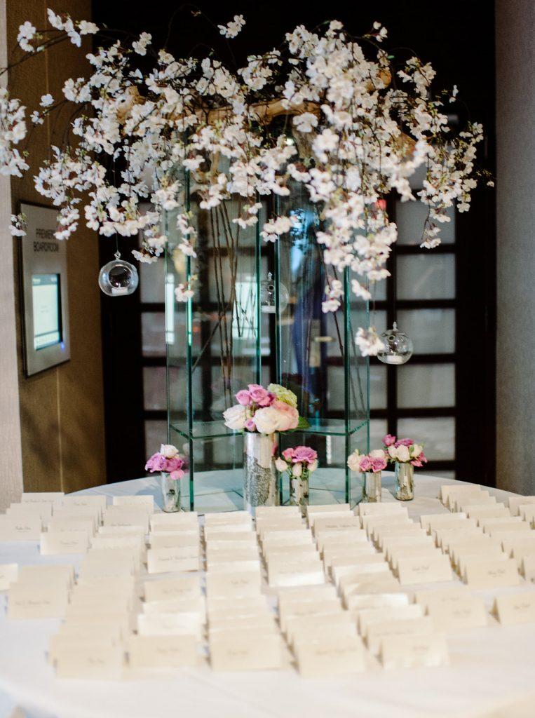 indian-wedding-virginia-escort-card-table-modern-pink-mauve