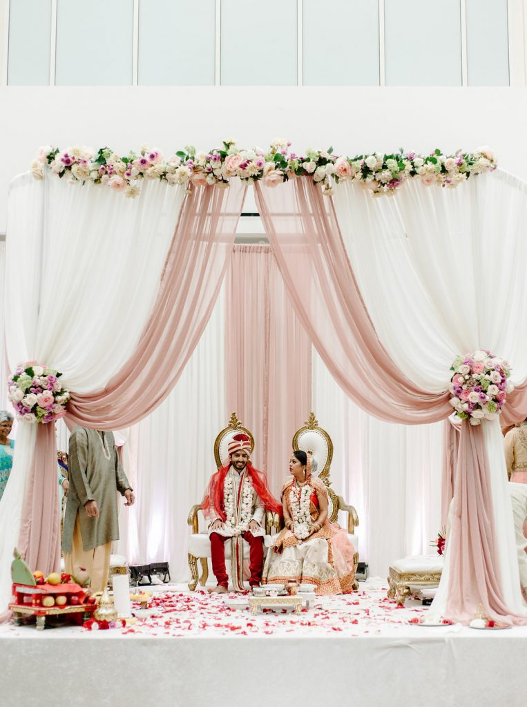 indian-wedding-virginia-sheraton-tysons-hotel-sarah-khan-mandap-pink-mauve-ivory