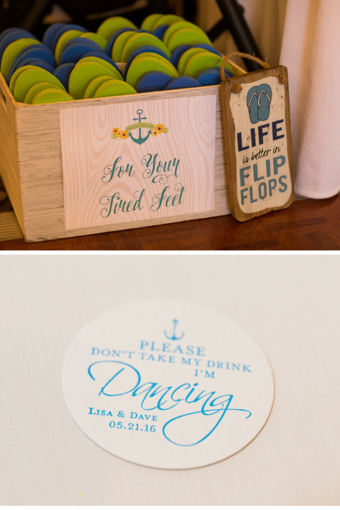 nautical-blue-seafoam-green-wedding-flip-flops-wedding-coasters
