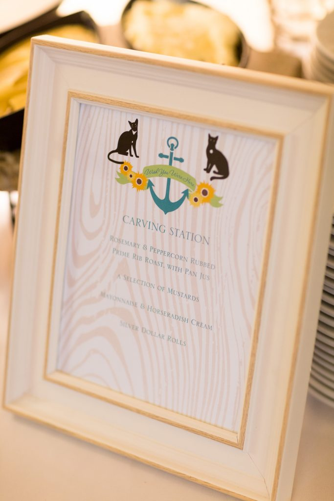 nautical-wedding-food-station-sign-LBC-Design