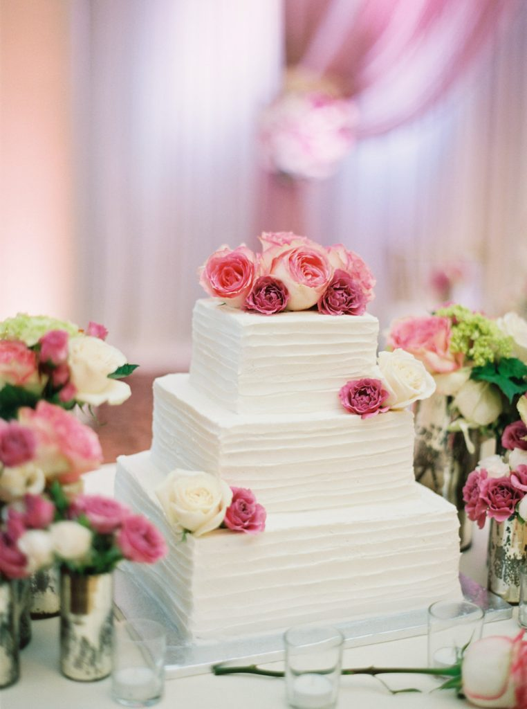 square-wedding-cake-textured-buttercream-custom-cake-design