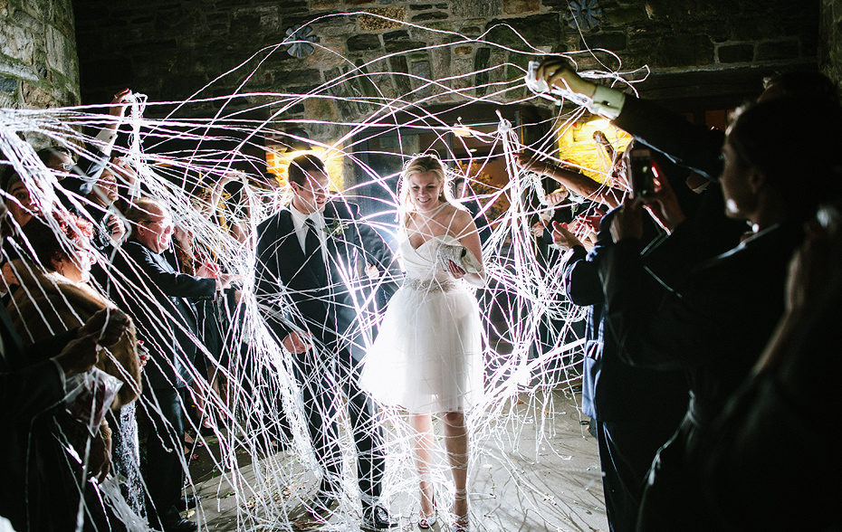 Blue-Hill-Stone-Barns-Wedding-New-York-silly-string-exit