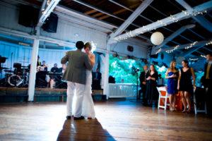 Glen Echo Park Bumper Car Pavilion wedding first dance