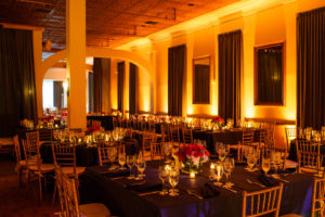 clarendon ballroom wedding arlington va navy and orange