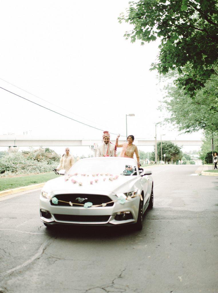 indian-wedding-virginia-baraat-car