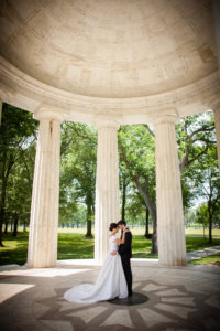 DC War Memorial bride groom portrait