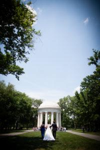 DC War Memorial wedding ceremony summer