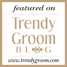 trendy groom badge