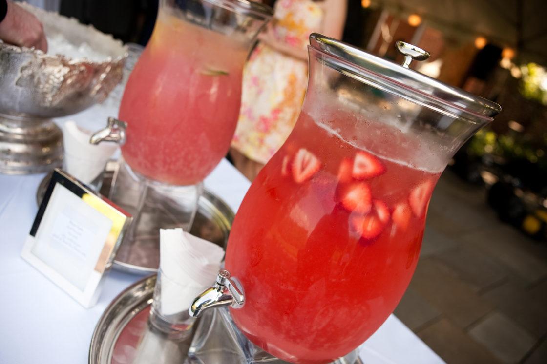 cold drinks beverages wedding ceremony summer