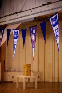 50th birthday party duke giants pennant flags