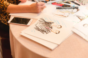 Washington DC wedding Cris Clapp Logan live artist sketch
