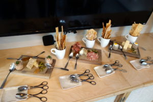 corporate marketing luncheon caboose brewing charcuterie board