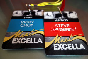 rock concert inspired name badges corporate event