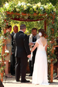 Meadowlark Botanical Gardens Jewish Wedding ceremony Vienna Virginia fall