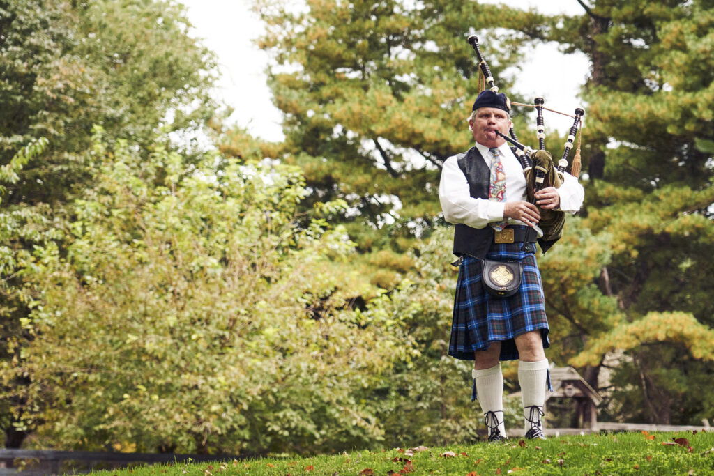 at-home-backyard-micro-mini-wedding-bagpiper
