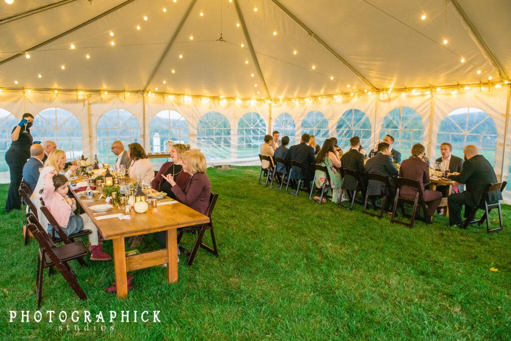 micro-wedding-virginia-backyard-tent